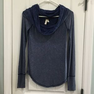 We the free XS cowl neck top